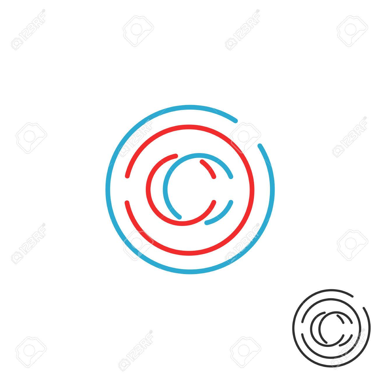 C letter monogram logo circle intersection line icon mockup c letter monogram logo circle intersection line icon mockup business card emblem stock vector biocorpaavc Images