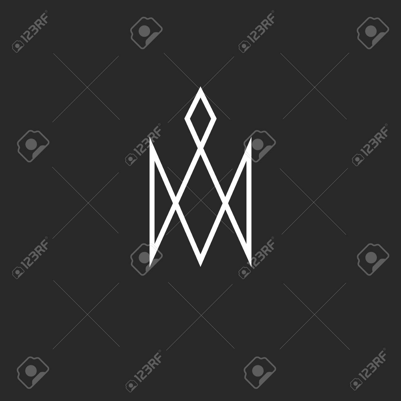 Monogram crown icon royal cute princess symbol hipster thin line banco de imagens monogram crown icon royal cute princess symbol hipster thin line business card emblem reheart Gallery