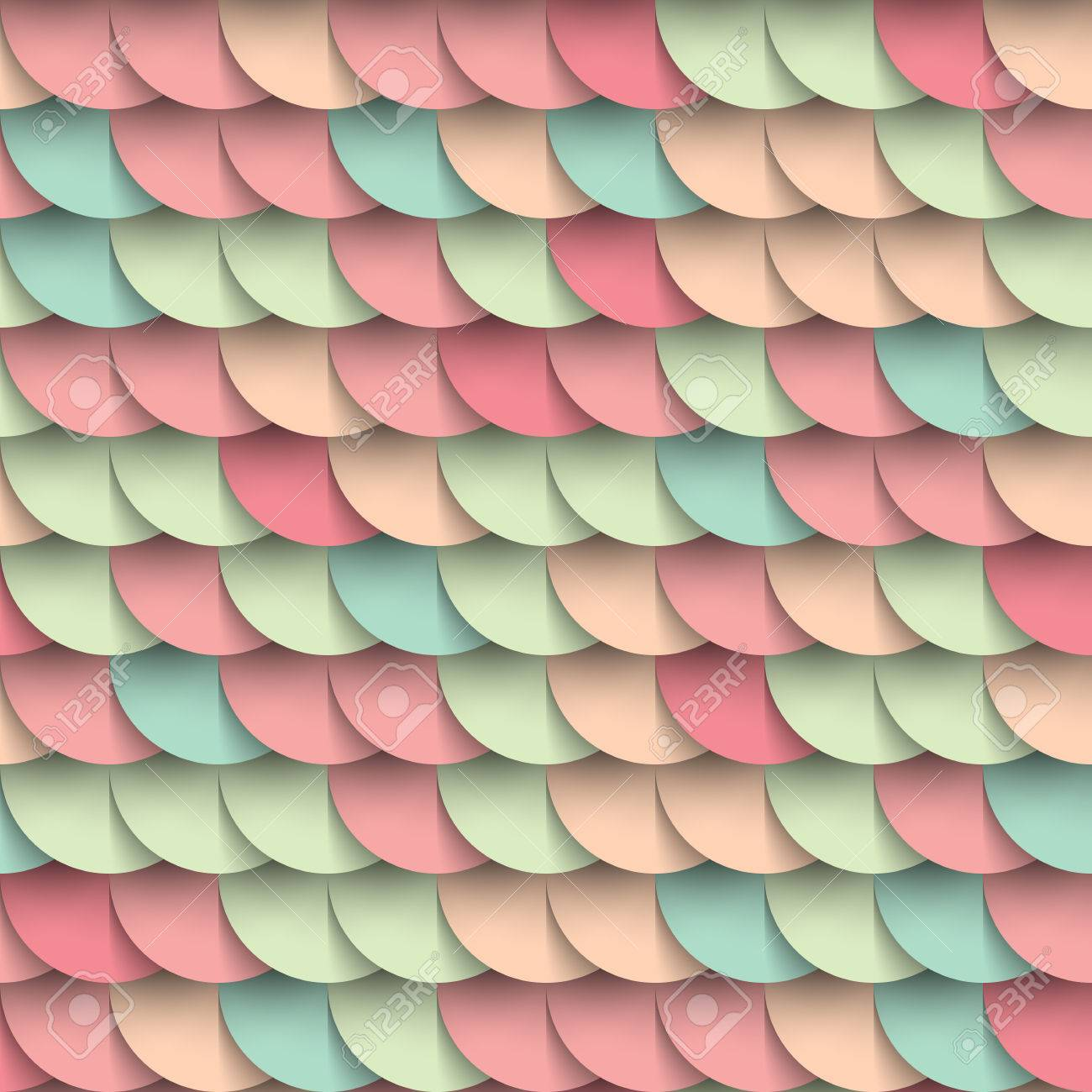 Pastel shades circles geometric shape multicolored seamless pattern,  varicoloured background, mockup wrapping cover decoration