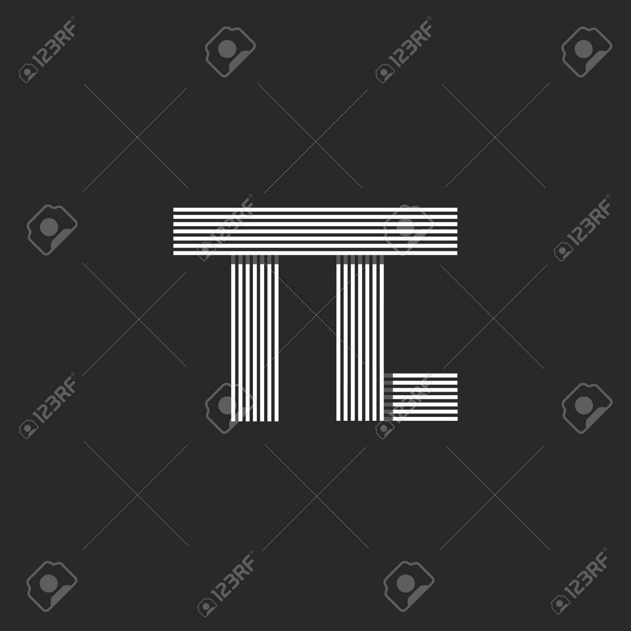 Initials Wedding Invitation Mockup TC Letters Monogram, Parallel ...
