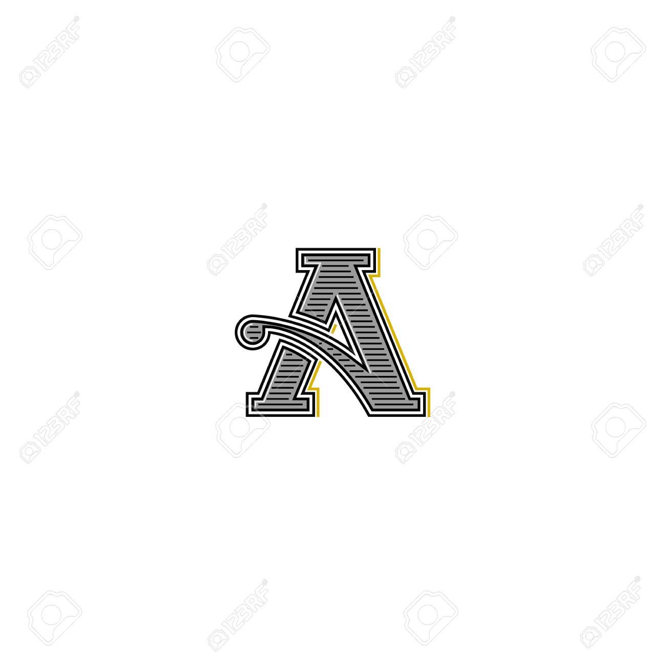 Lettre Rtro Invitation De Mariage Monogramme Typographie