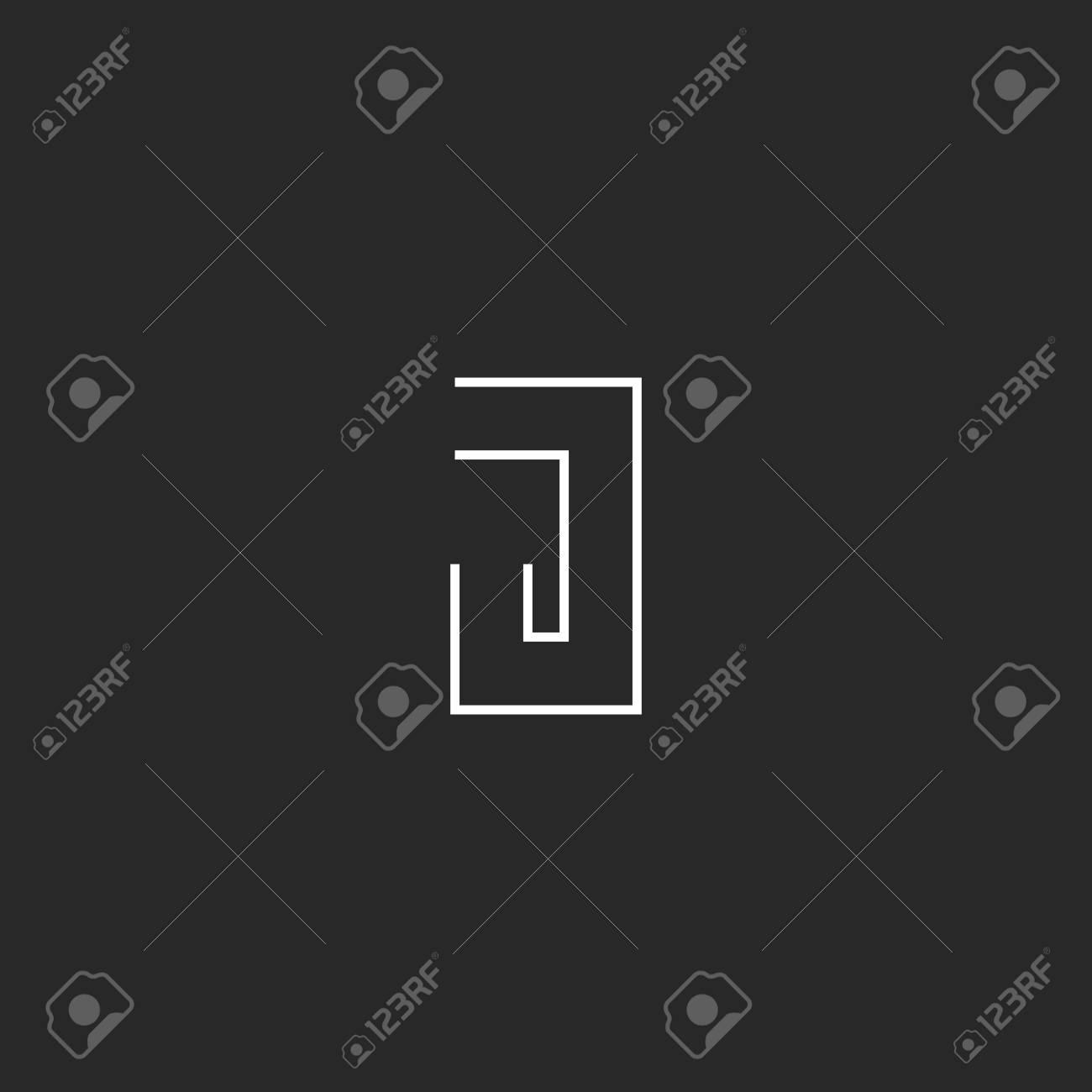 Monogramme J Embleme De Forme Geometrique Carte Visite