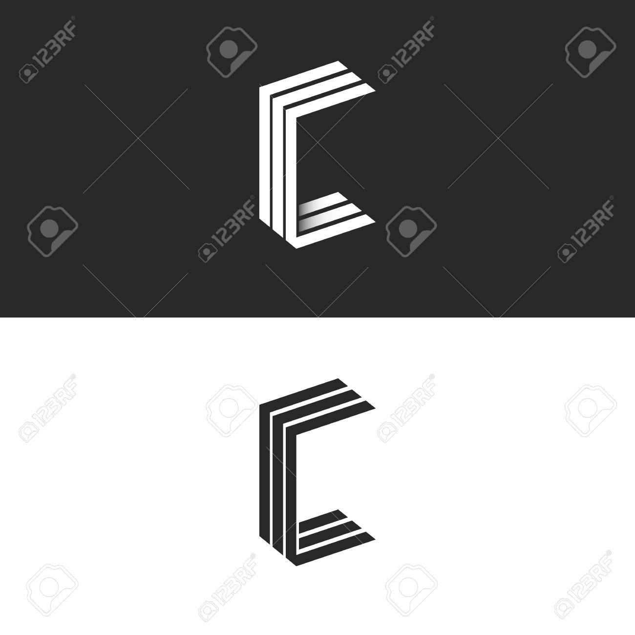 Idea 3d Logo C Letter Isometric Monogram Group Initials Ccc Royalty Free Cliparts Vectors And Stock Illustration Image 65958634