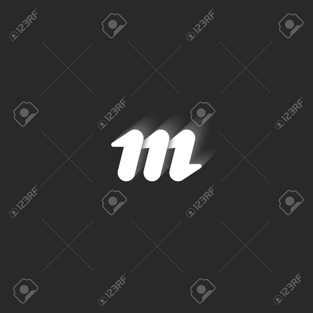 Element De Design Graphique Noir Et Blanc Style Lignes Epurees Forme Geometrique Avec Des Ombres Symbole Simple Petite Identite Pour Embleme Carte