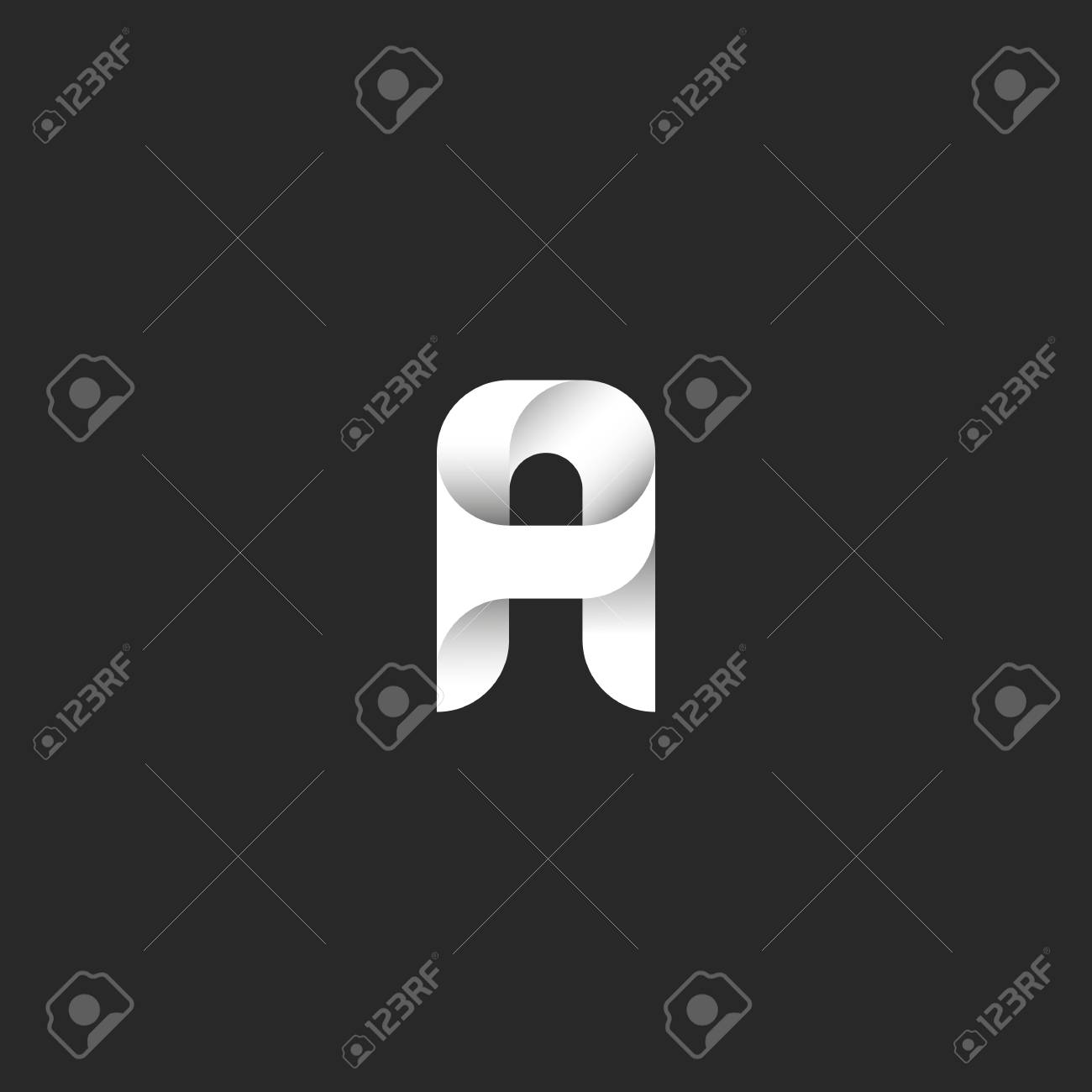 A Letter Logo, Idea Black And White Gradient Typography Design ...