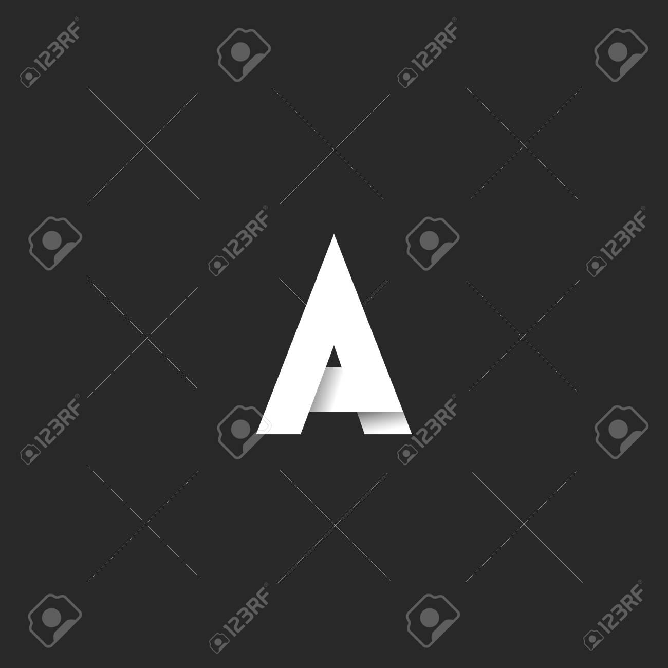logo a letter bold font elegant black and white gradient style
