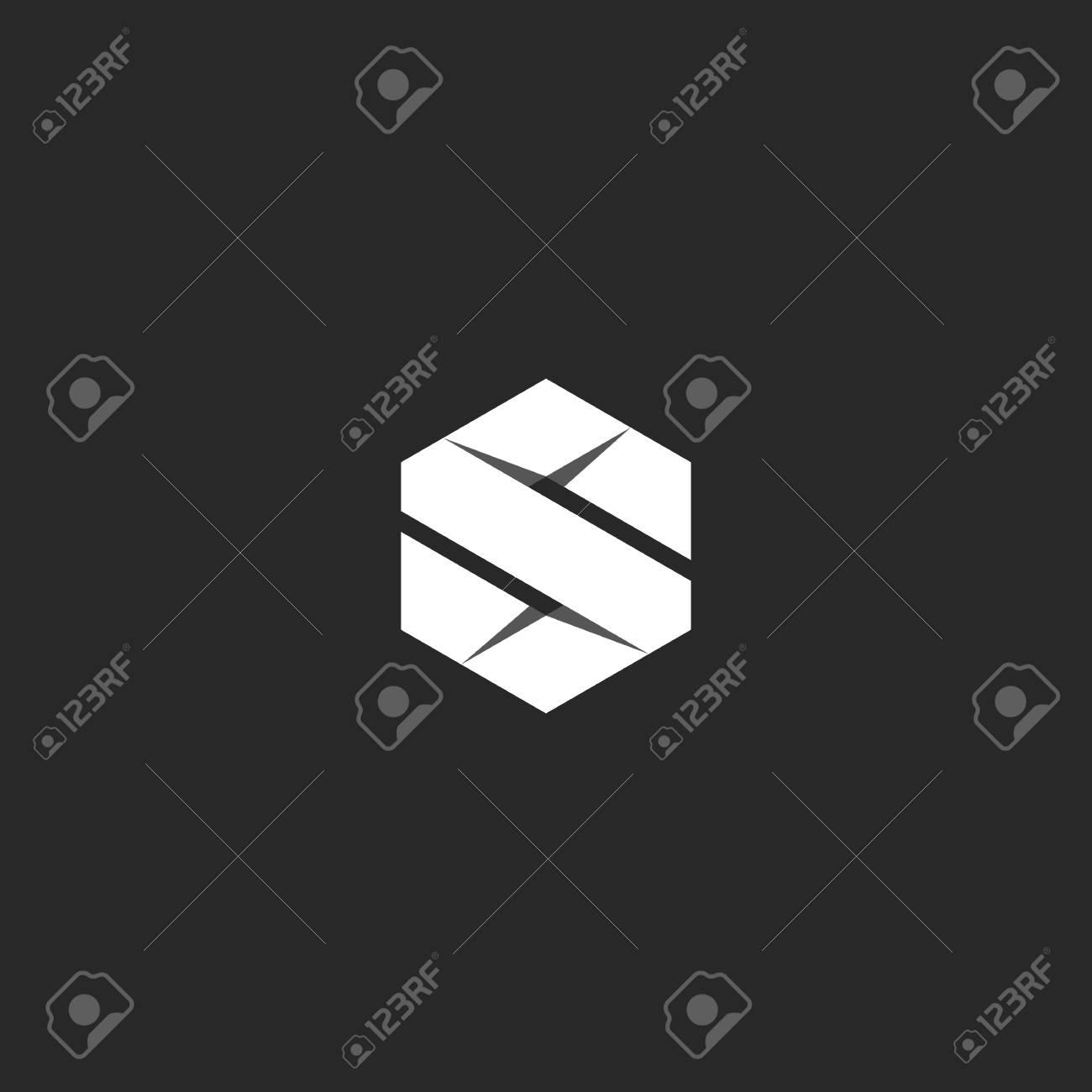Préféré Lettre S Logo Dans La Forme Géométrique D'un Hexagone Plié à #OM_15