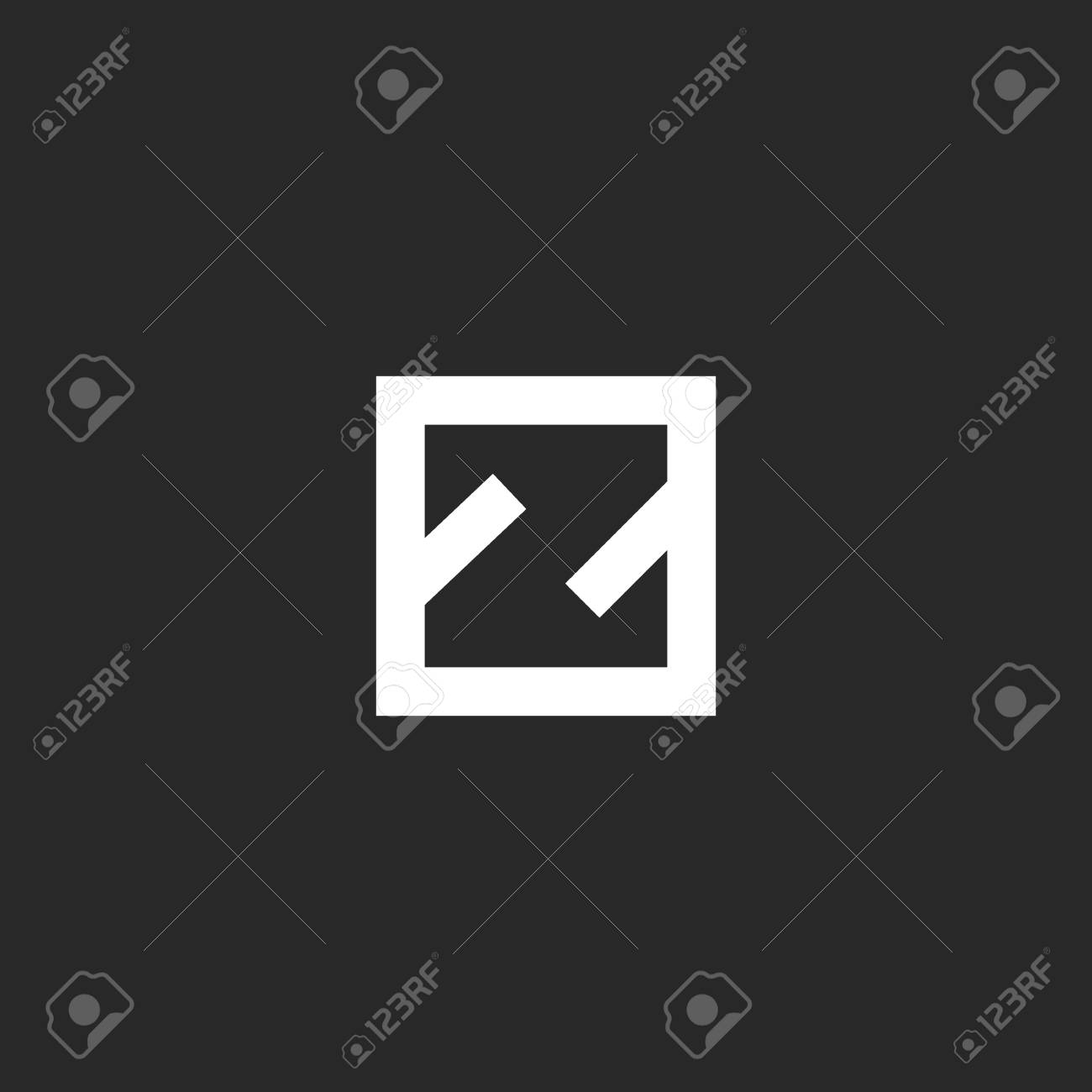 Letter Z Logo Monogram Minimal Style Simple Linear Initial In