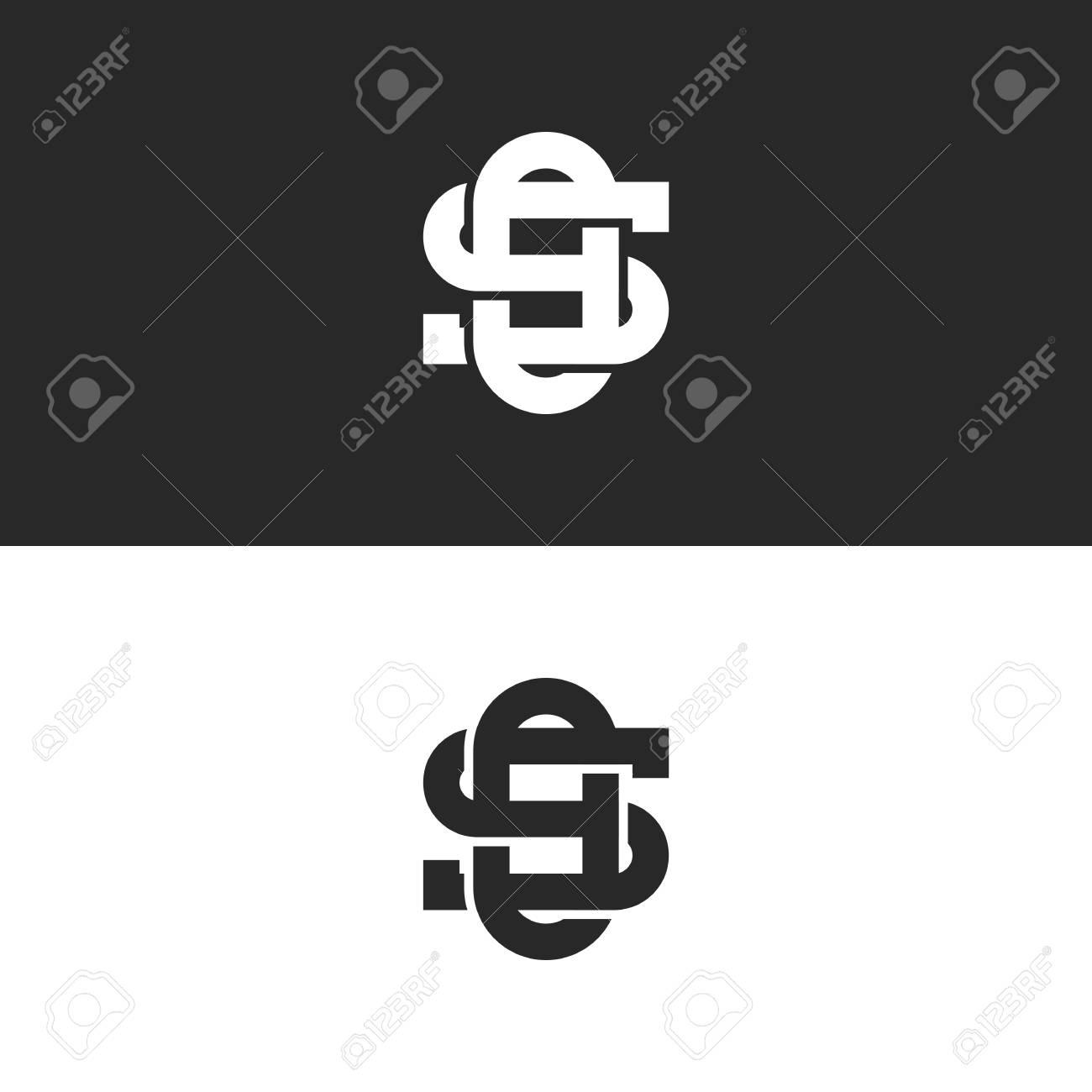 linked ornate symbols so or os letters monogram logo overlapping