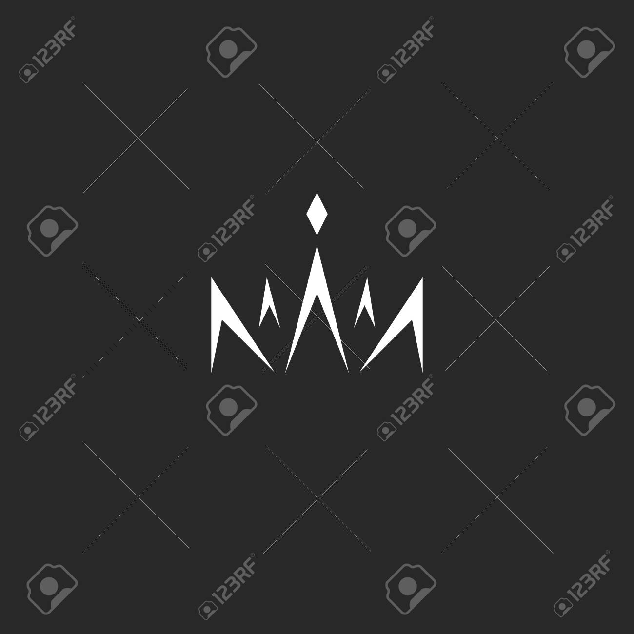 Abstract Crown In The Style Monogram Black And White Lines With Royalty Free Cliparts Vectors And Stock Illustration Image 118532995