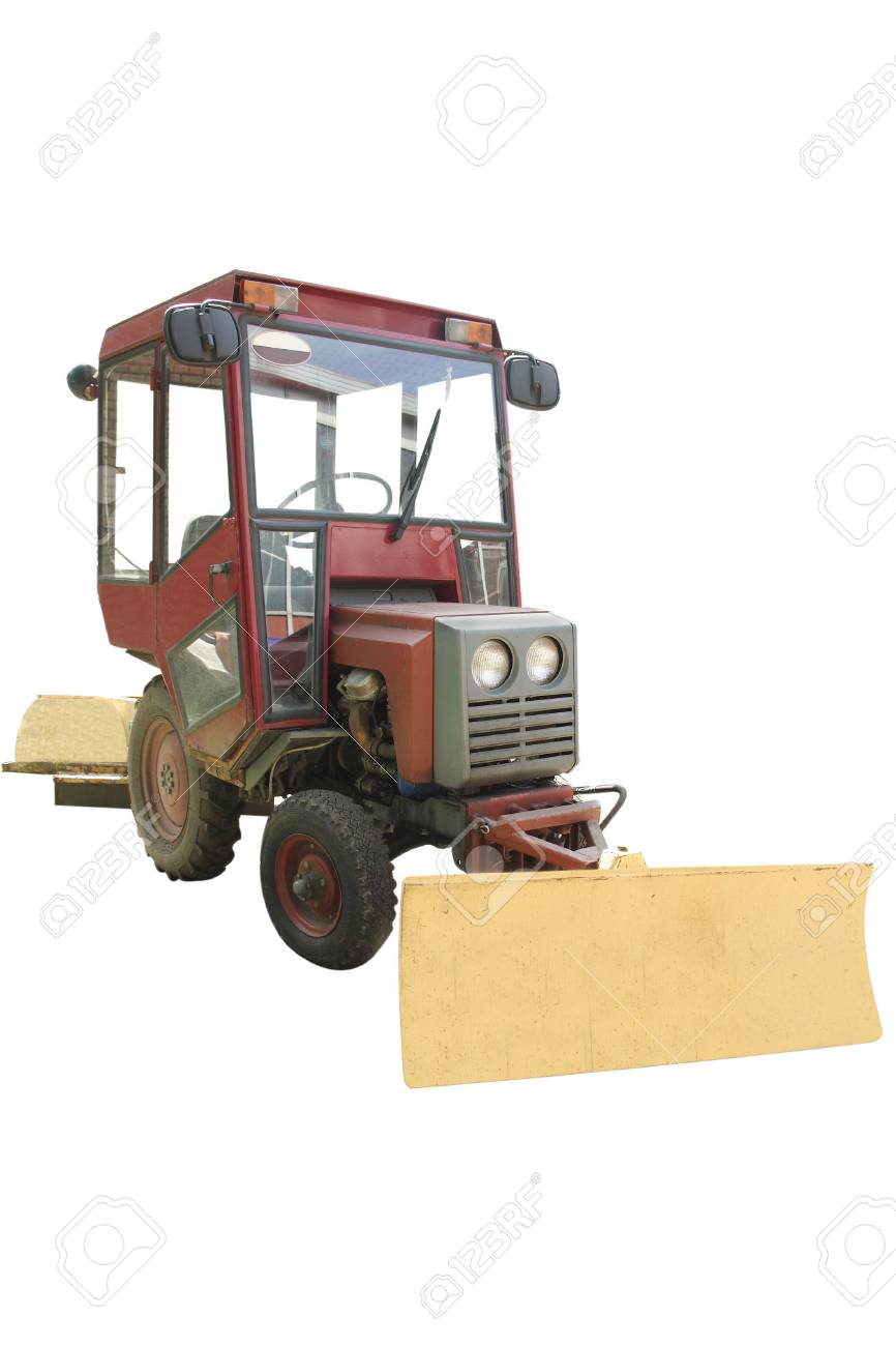 wheeled tractor under the white background Stock Photo - 4930078