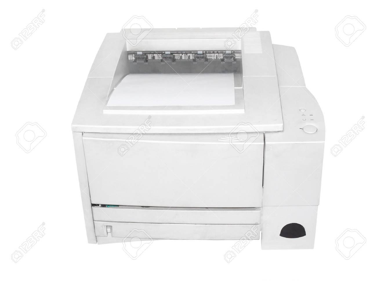printer under the white background Stock Photo - 6125494