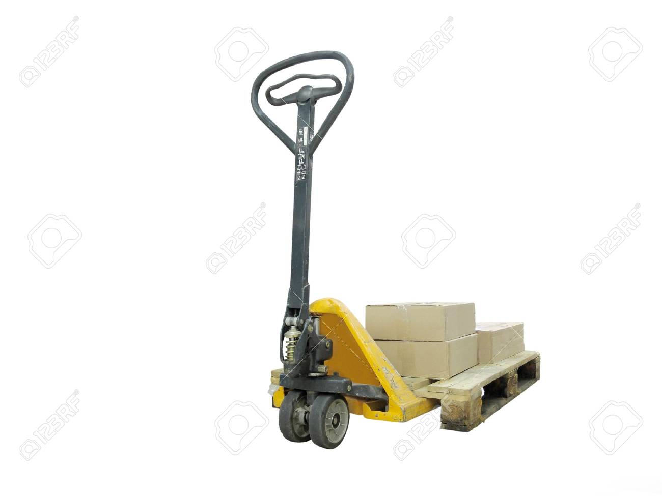 The image of loader under the white background Stock Photo - 7530343