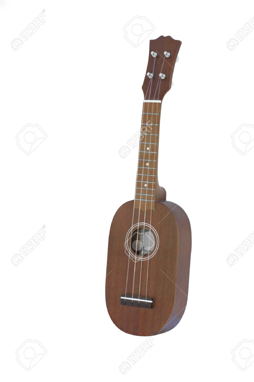 The image of guitar under the white background Stock Photo - 7974770