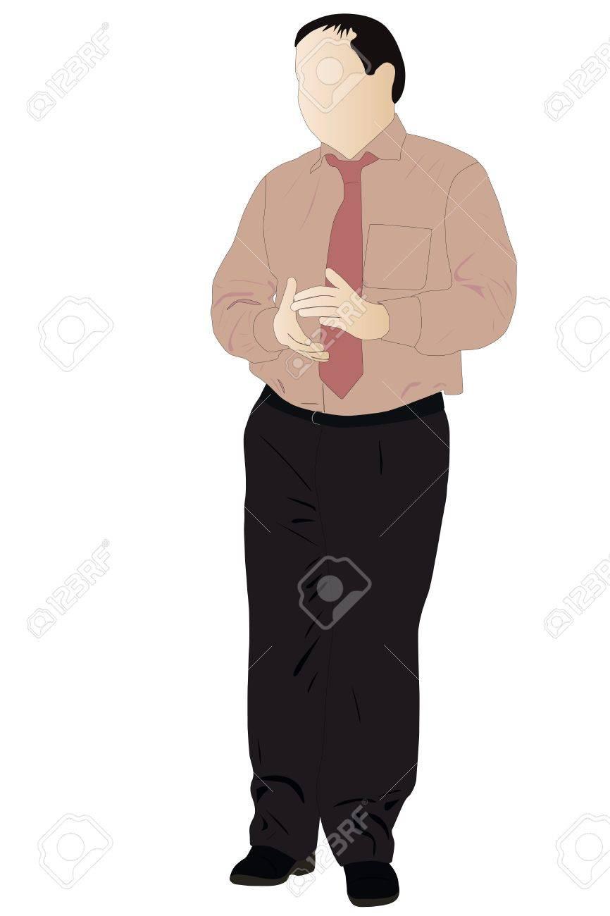 Vector illustration of applauded man Stock Vector - 9180665