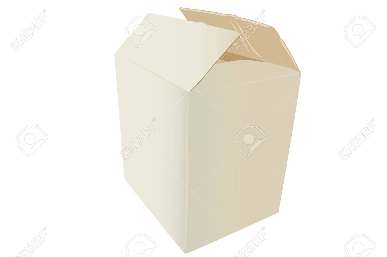 Vector illustration of cardboard box under the white background Stock Vector - 9458551