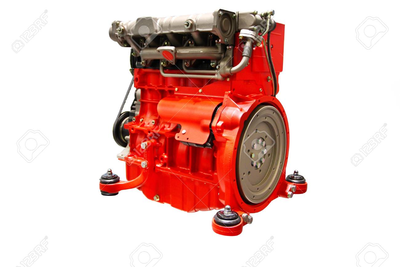 The image of an engine under the white background Stock Photo - 9874965