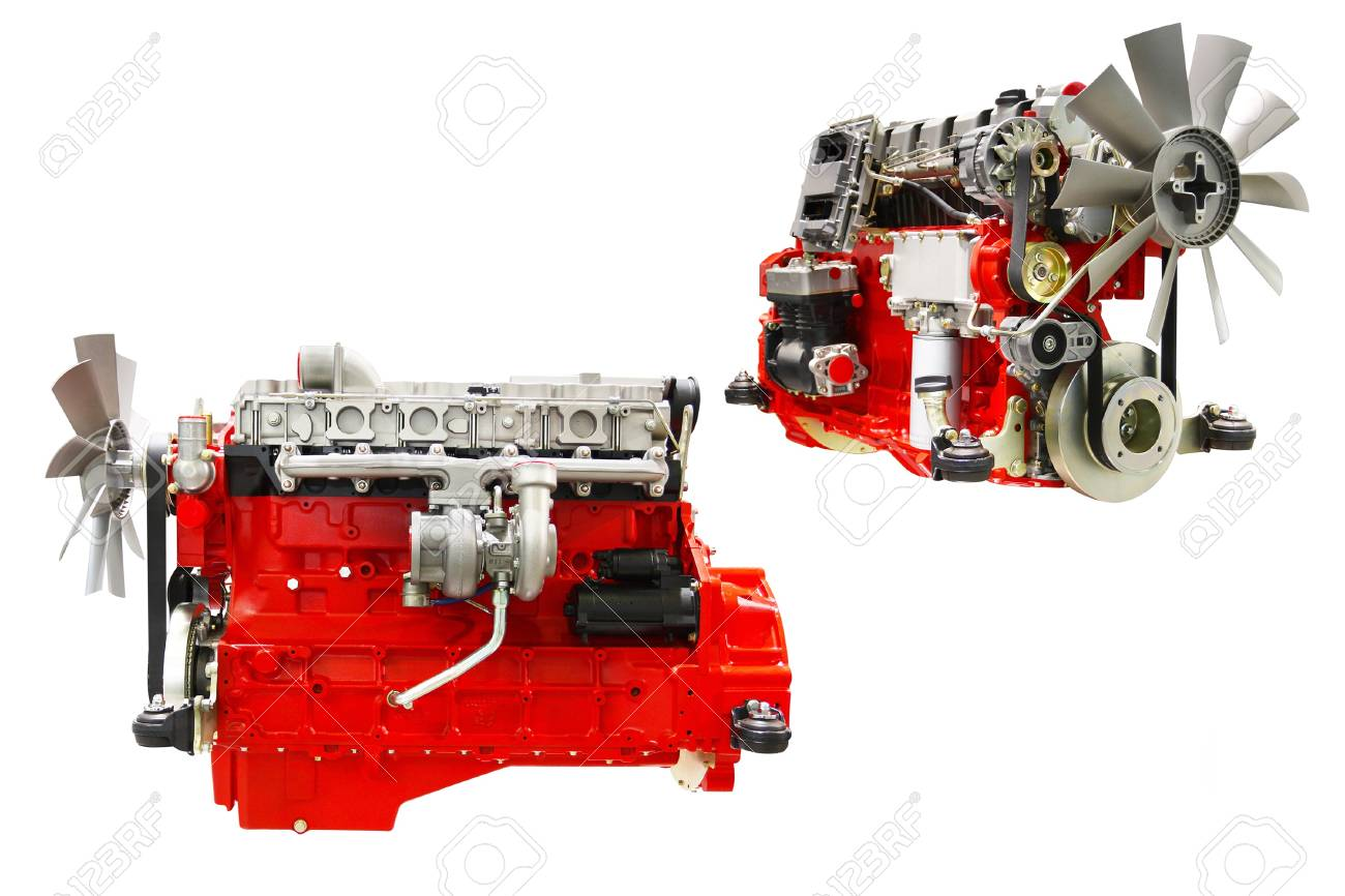 The image of an engines under the white background Stock Photo - 10456139