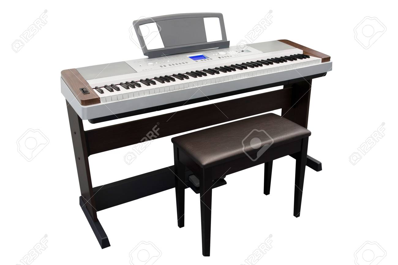 The image of an electronic synthesizerunder the white background Stock Photo - 13815966