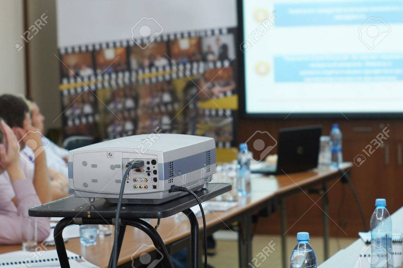 projector on a conference Stock Photo - 15168042