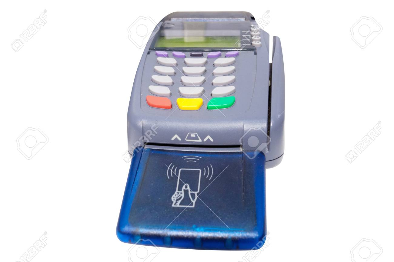 The image of cash register under the white background Stock Photo - 16103429
