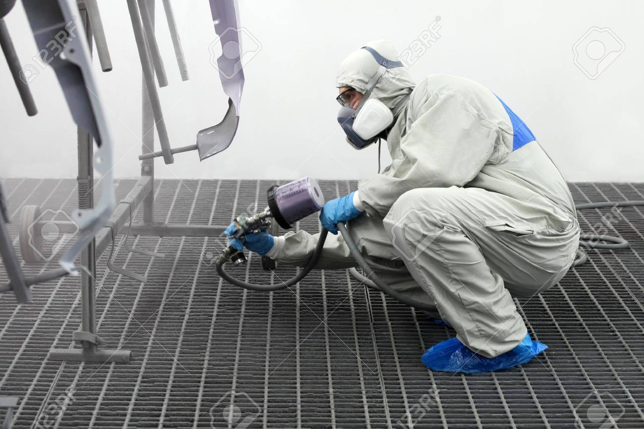 Painter paints the wing Stock Photo - 16447777