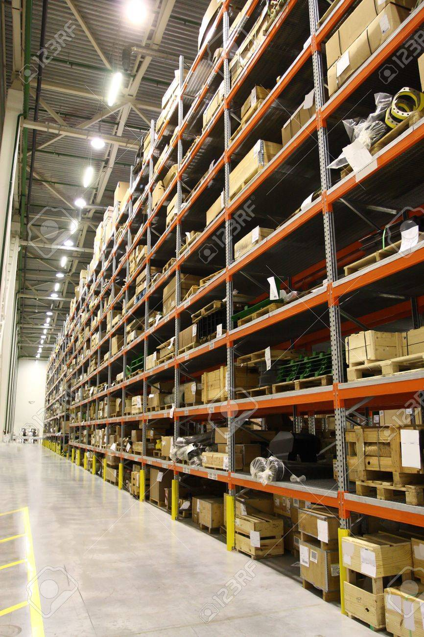 The image of shelves in the warehouse Stock Photo - 16628497