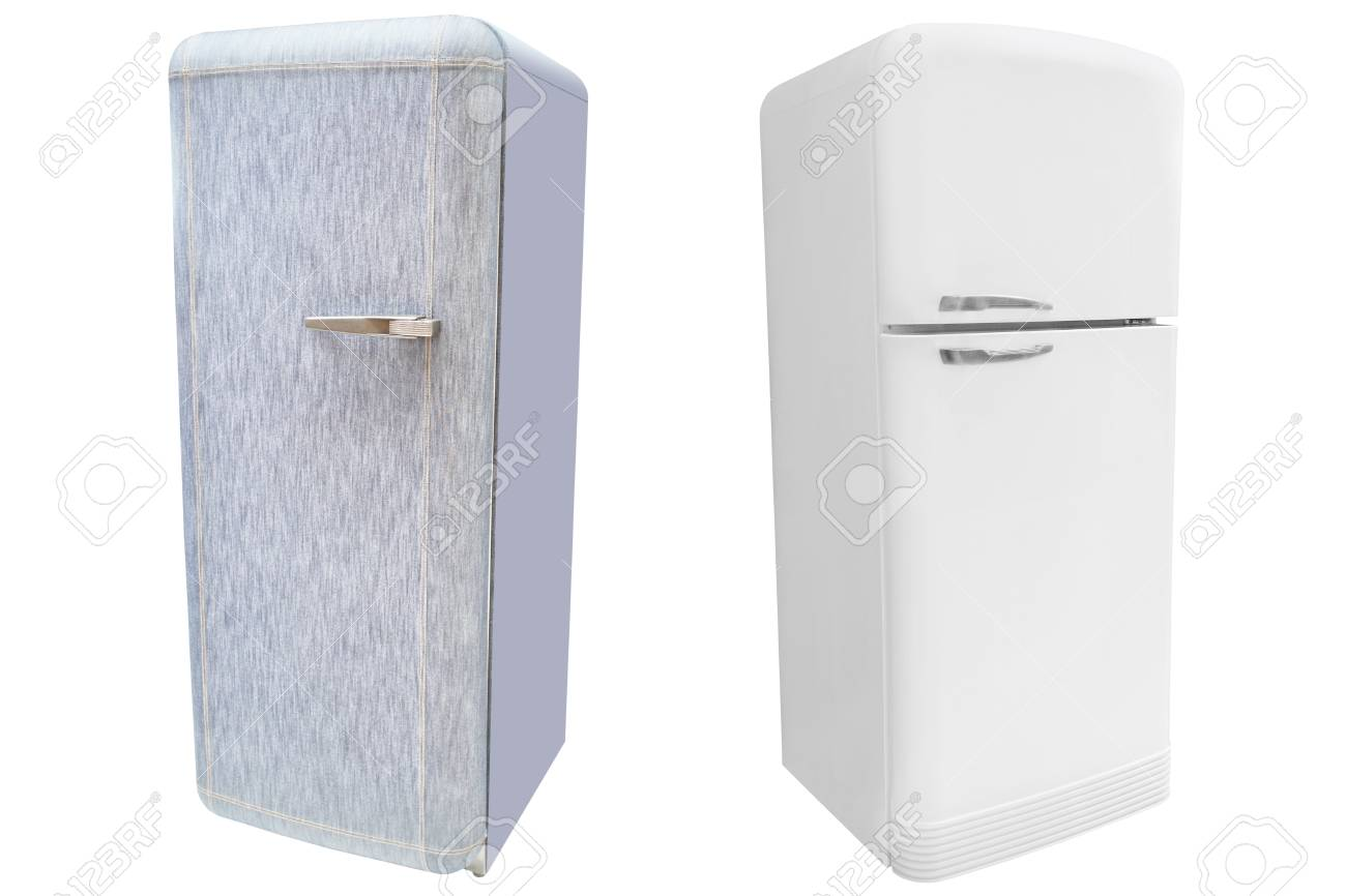 refrigerator under the white background Stock Photo - 19038626