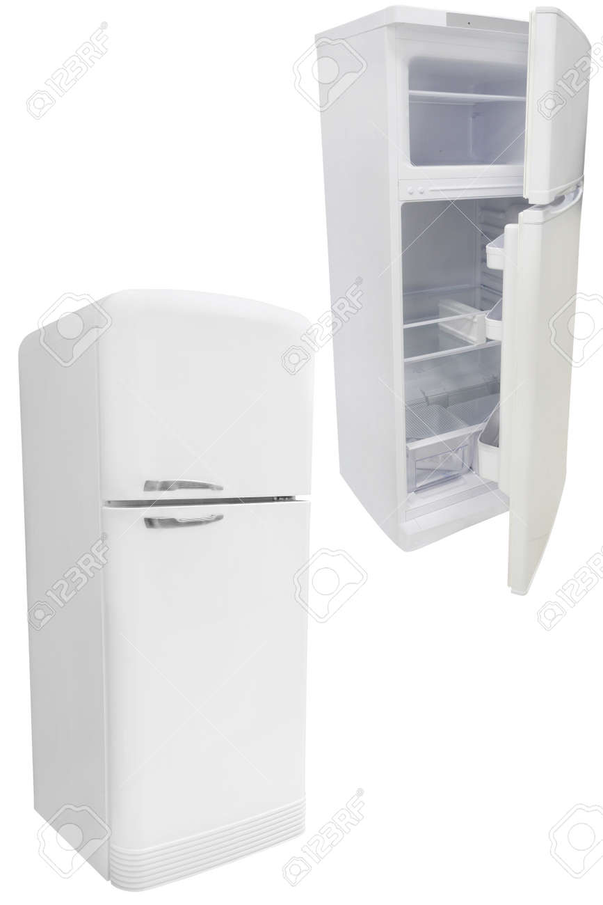 refrigerator under the white background Stock Photo - 19736876