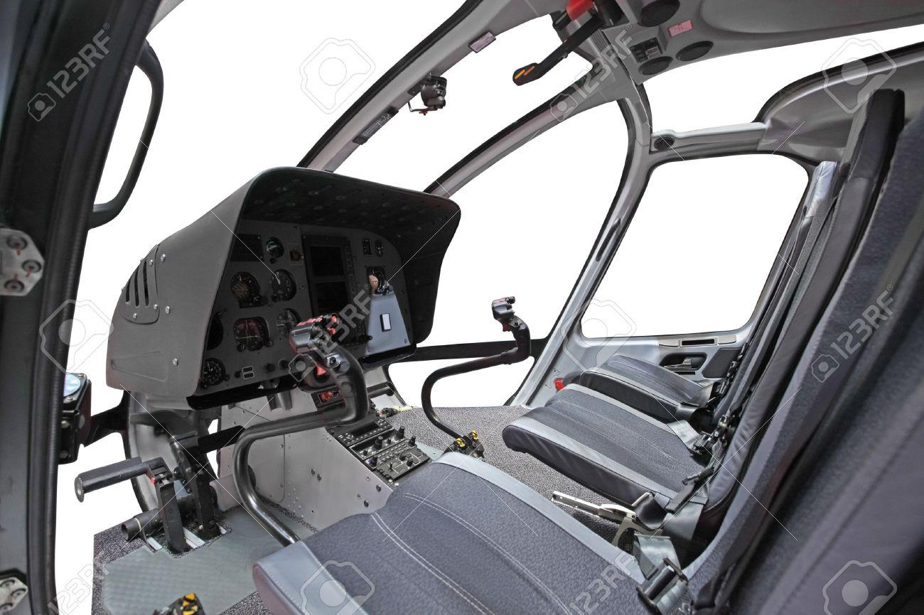 limage de lintrieur du cockpit dhlicoptre banque dimages