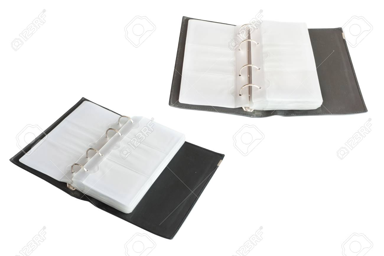 opened business card organizer stock photo 34708275 - Business Card Organizer