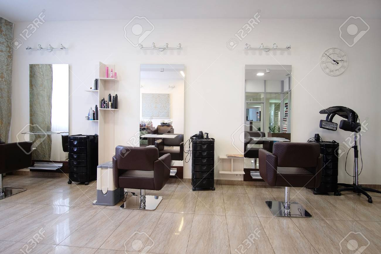 Interior Of A Modern Beauty Salon Stock Photo, Picture And Royalty ...