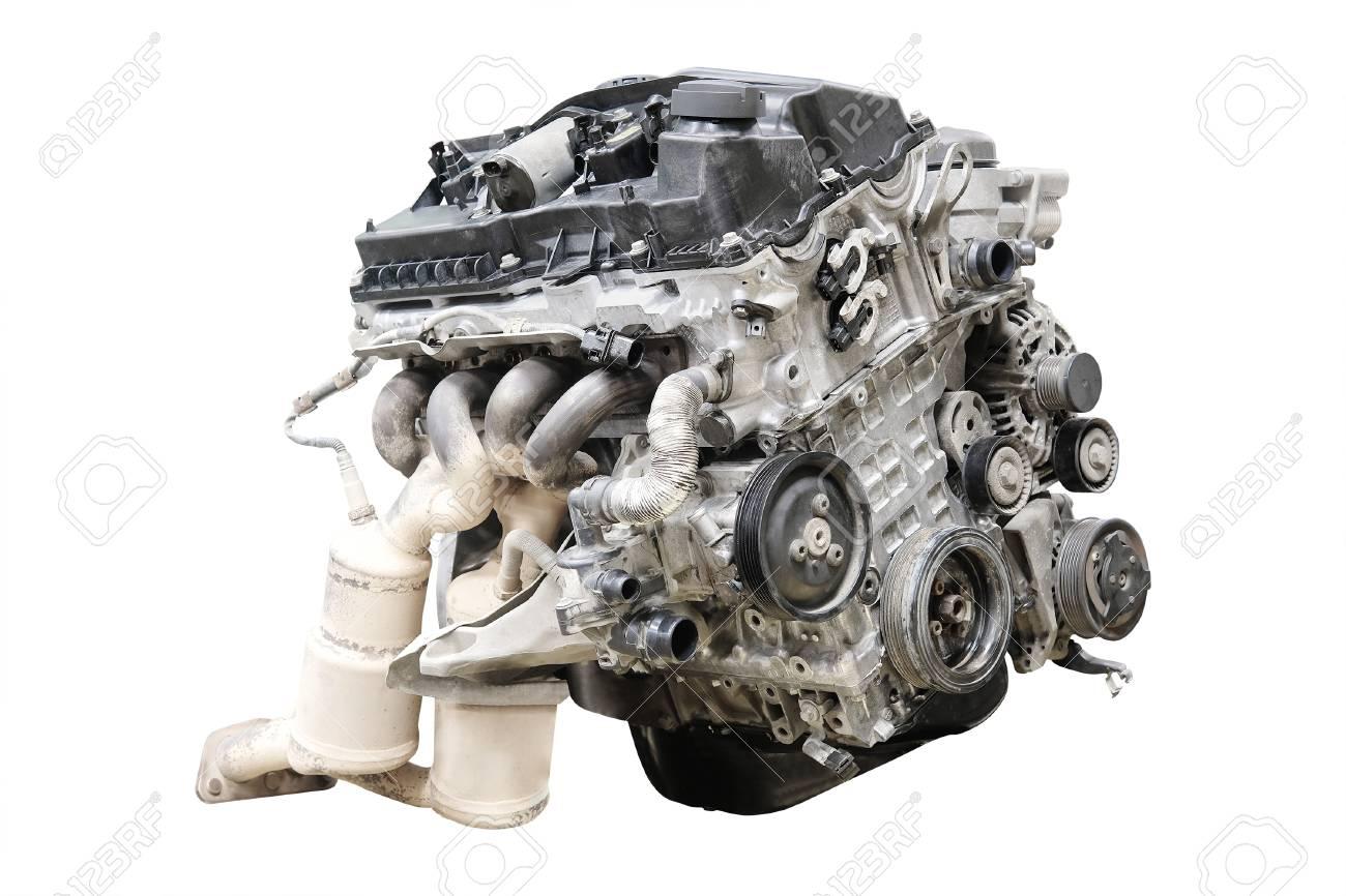 Automotor Lokalisiert Unter Dem Weißen Hintergrund Lizenzfreie Fotos ...