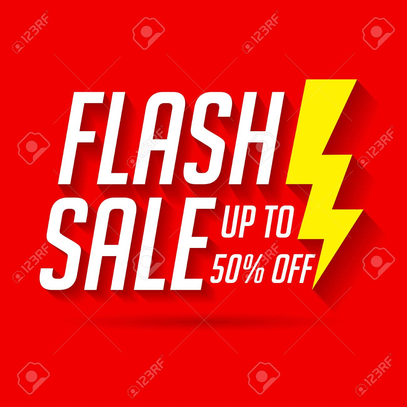 Sale label for banner and poster. Flash sale template - 128376338