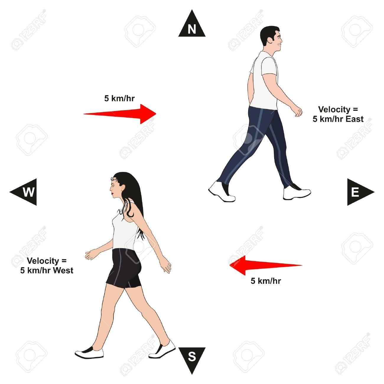 Ejemplo De Velocidad Diagrama Infográfico Lección De Física Que ...