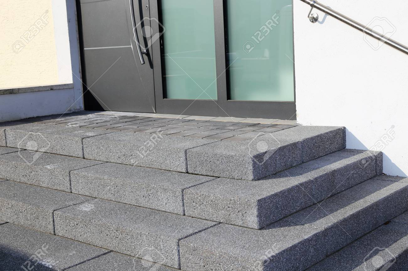 Staircase With Solid Block Steps Stock Photo   74938492