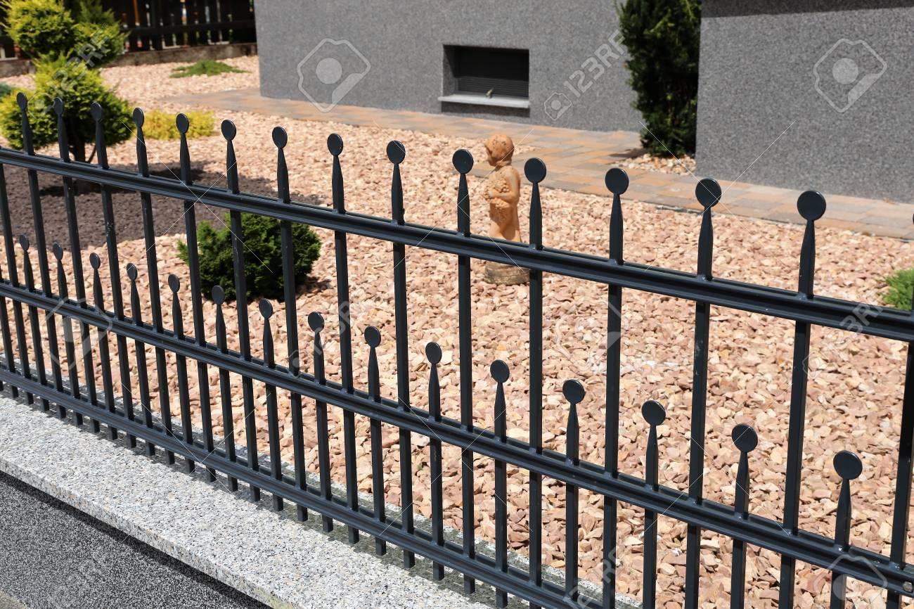 Superieur Aluminum Garden Fence Stock Photo   81935049