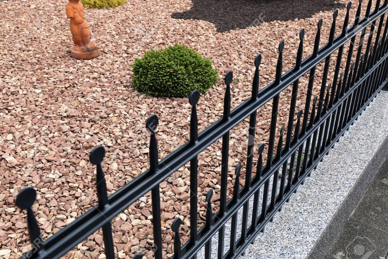 Aluminum Garden Fence Stock Photo   81975663