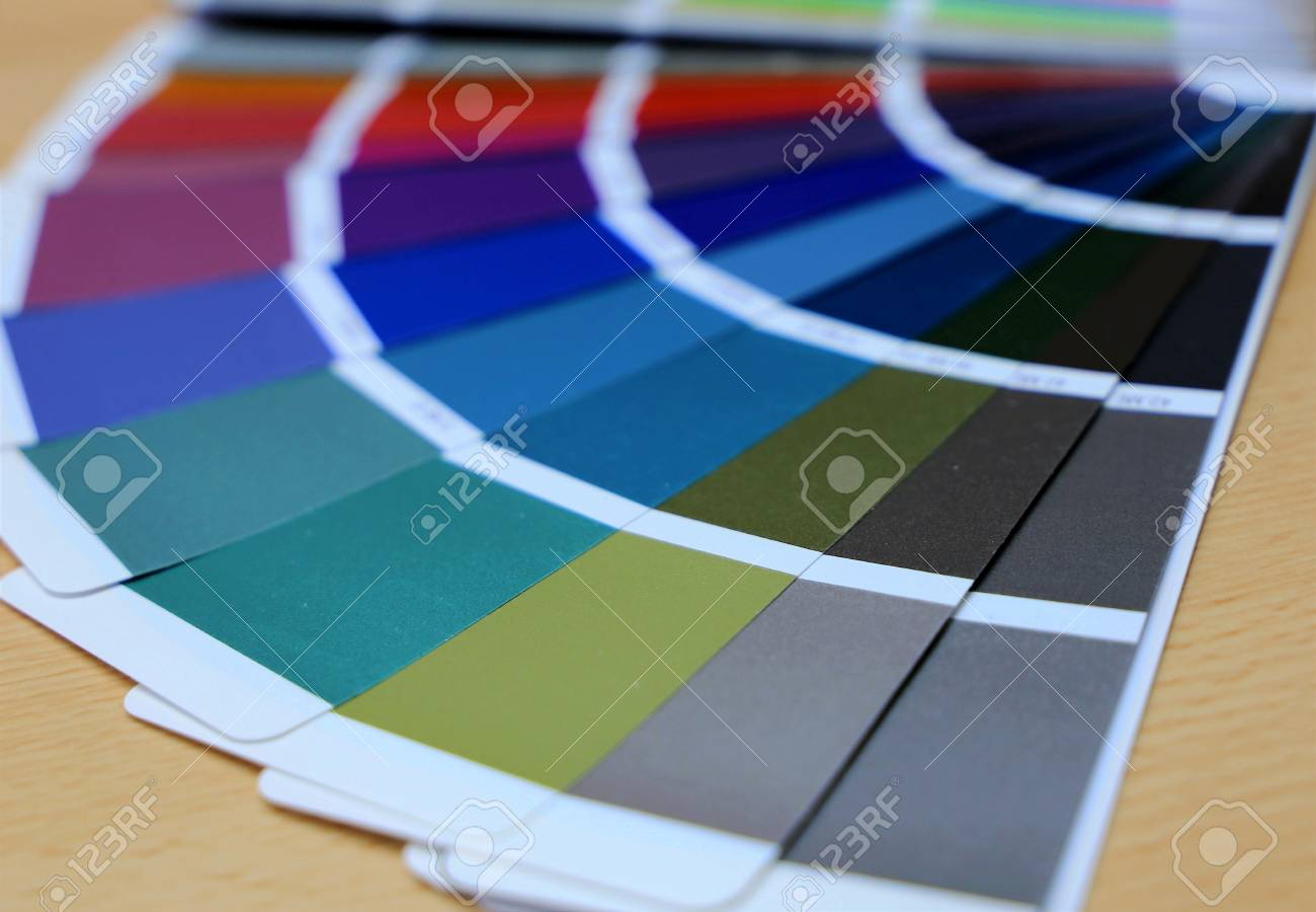 RAL Color Chart, Color Fan Deck Stock Photo, Picture And Royalty ...