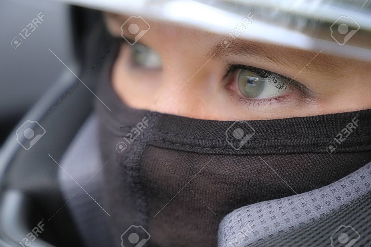 Female Race Car Driver Wearing Helmet And Balaclava Stock Photo Picture And Royalty Free Image Image 104517498