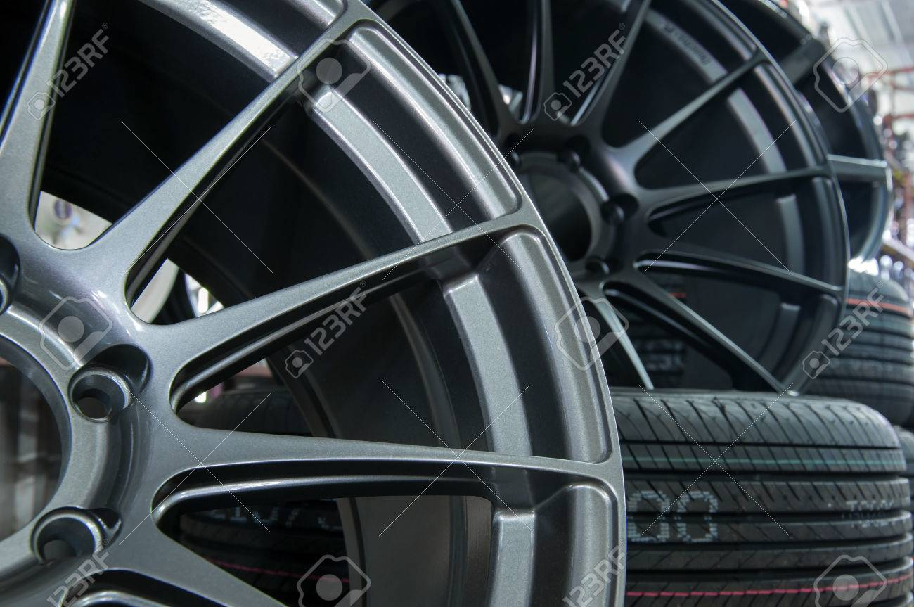 Wheels And Tyres Parts Of The Car Which Is A Circular Rotating