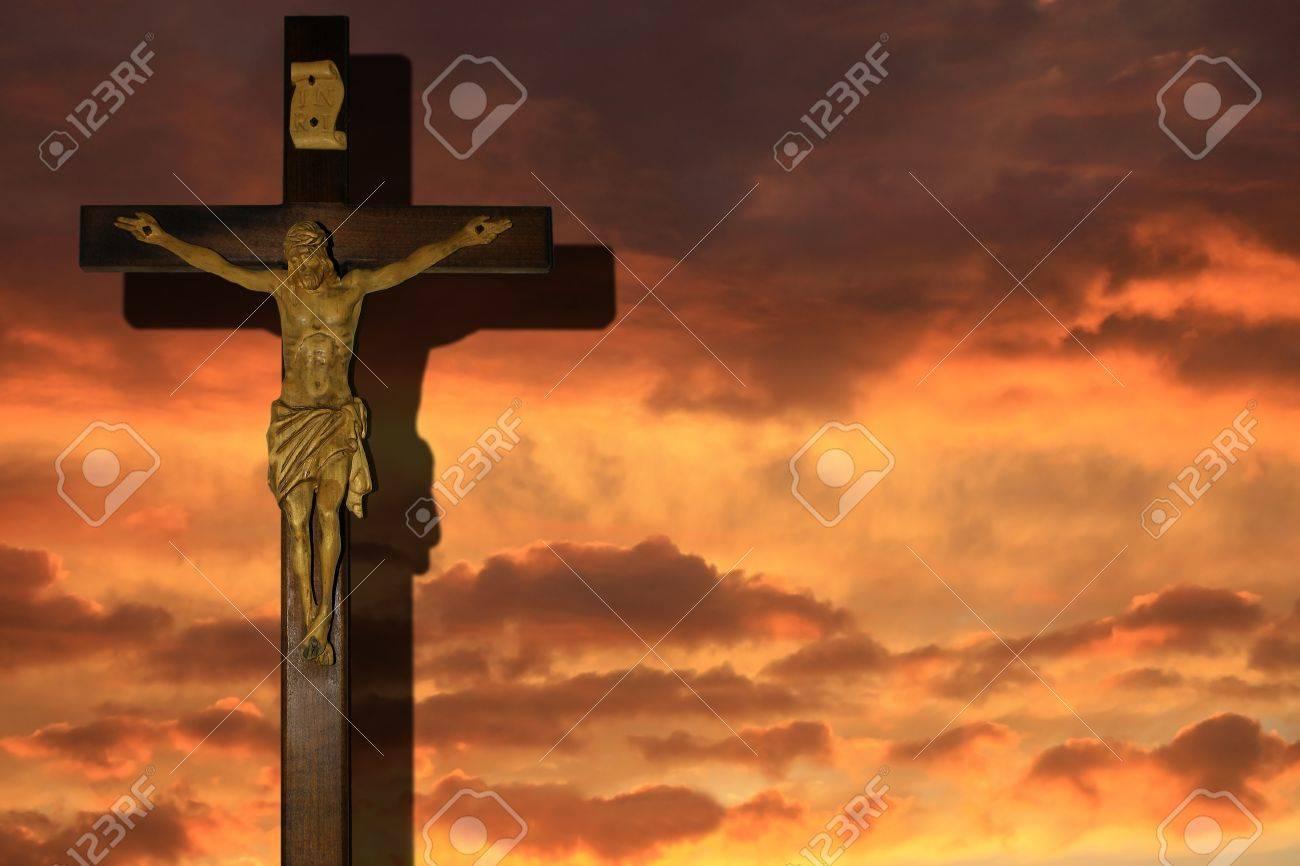 Wooden cross background Stock Photo - 13710865