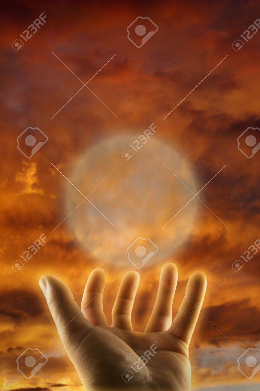 healing hand esoteric concept Stock Photo - 13711603