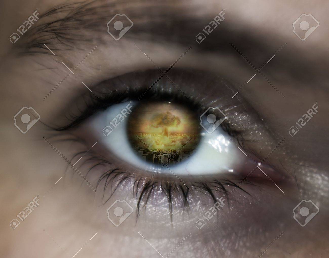 World war eye vision prophecy Stock Photo - 13738130