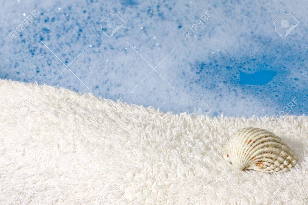 Foam And Water , Towel Abstract Bath Background Stock Photo, Picture ...