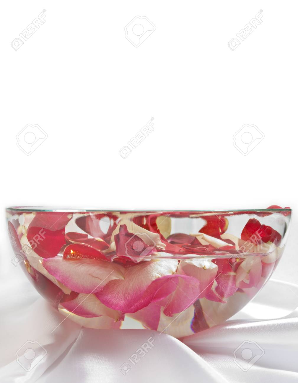 rose petals in bowl with water Stock Photo - 14056441