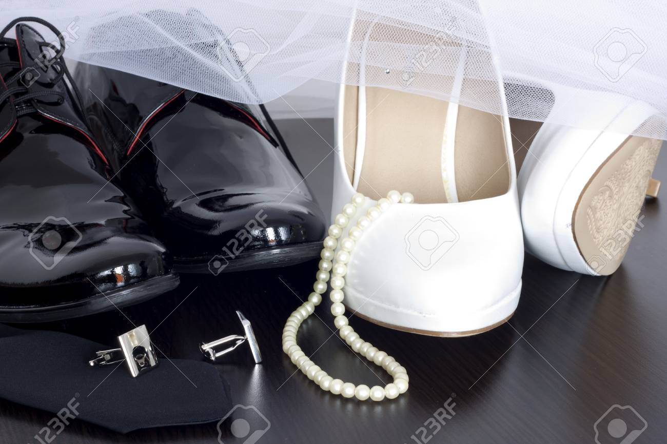 Wedding shoes concept Stock Photo - 18969888