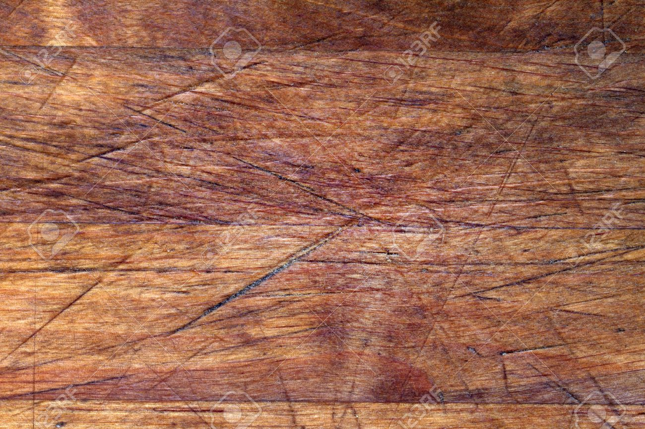 Old wooden boards as background - Old Wooden Cutting Board Background Texture With Scratches Stock Photo 25204849