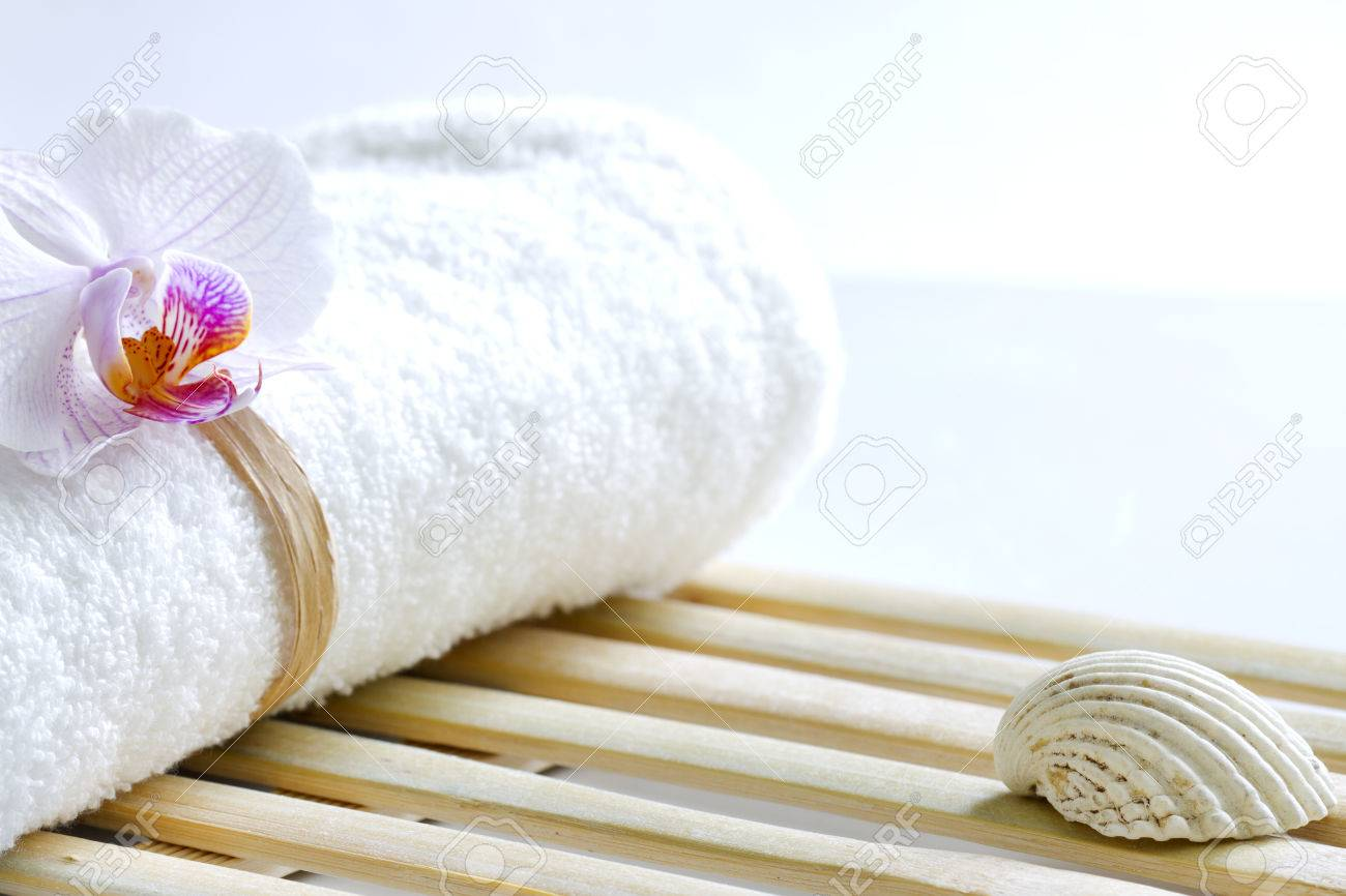 Orchid And Towel Abstract Skincare Background Stock Photo Picture And Royalty Free Image Image 39660593