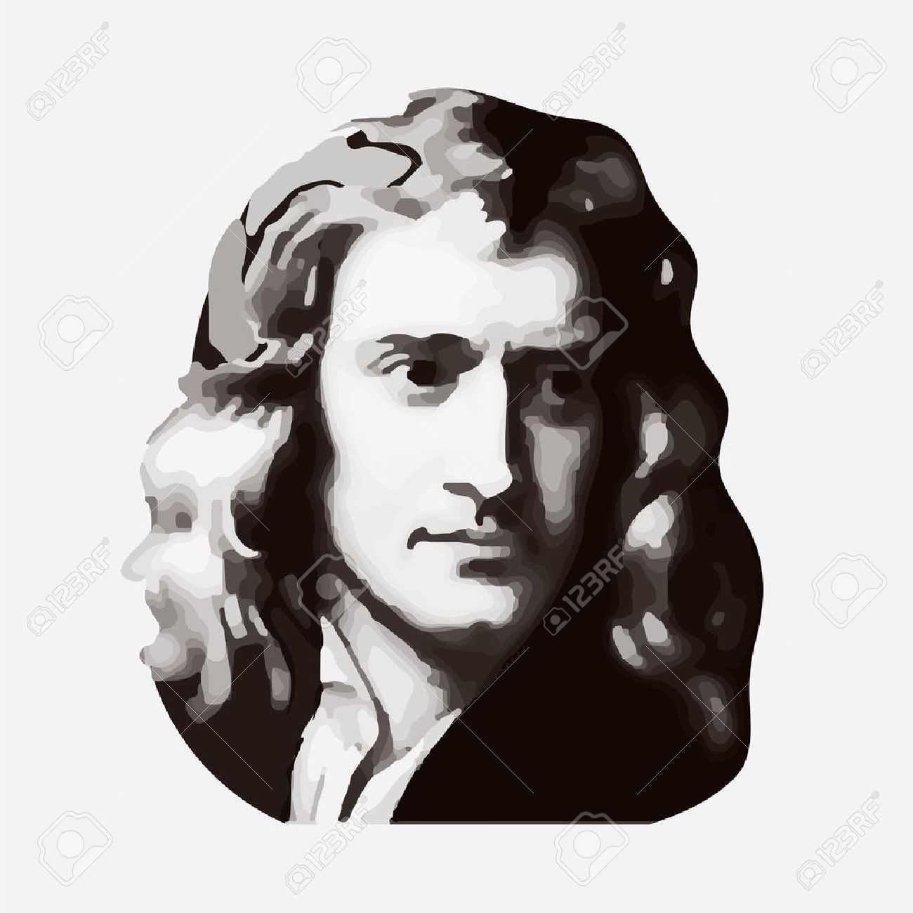 Sir Isaac Newton - English Physicist And Mathematician, One Of.. Royalty  Free Cliparts, Vectors, And Stock Illustration. Image 56242353.